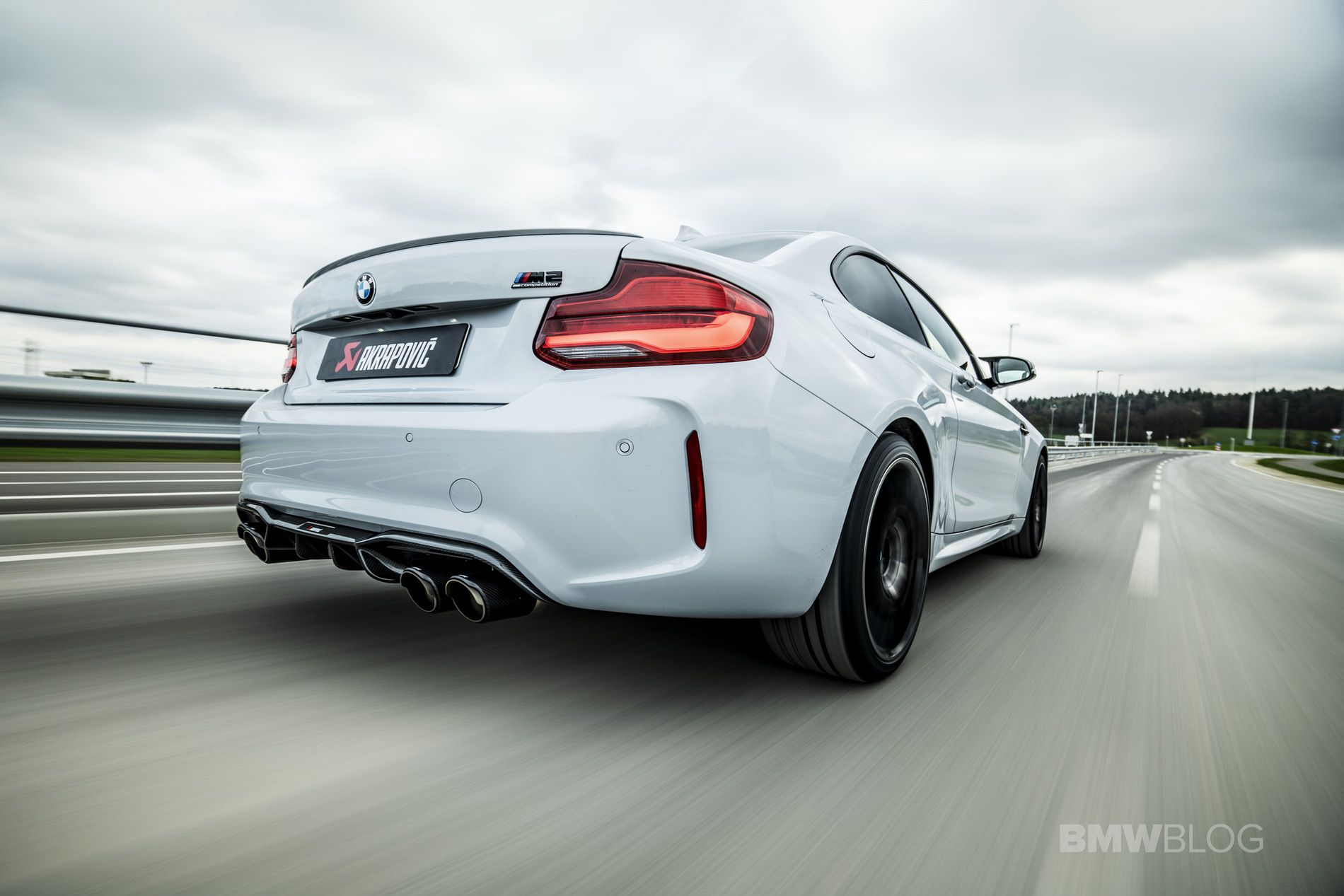 Akrapovic Slip On Titanium Exhaust for BMW M2 Competition 01