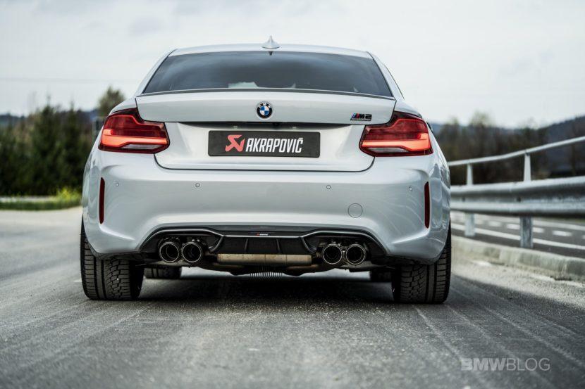 Akrapovic Slip On Titanium Exhaust for BMW M2 Competition 03 830x553