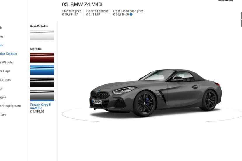 2019 Bmw Z4 Configurators Go Online In Europe