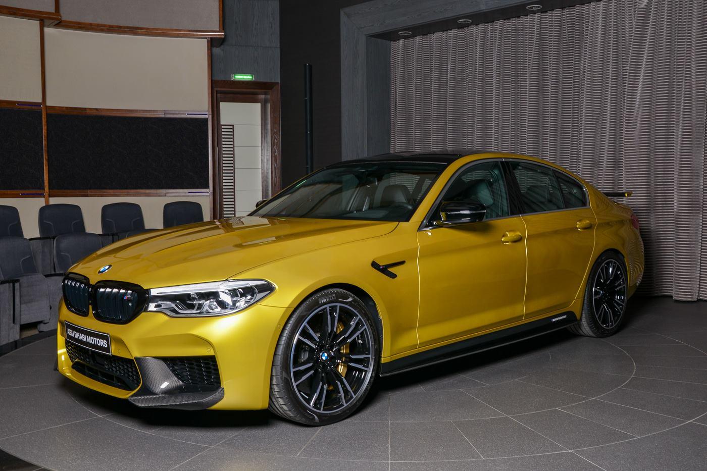Austin Yellow BMW M5 Arrives in Abu Dhabi Wearing AC Schnitzer Goodies