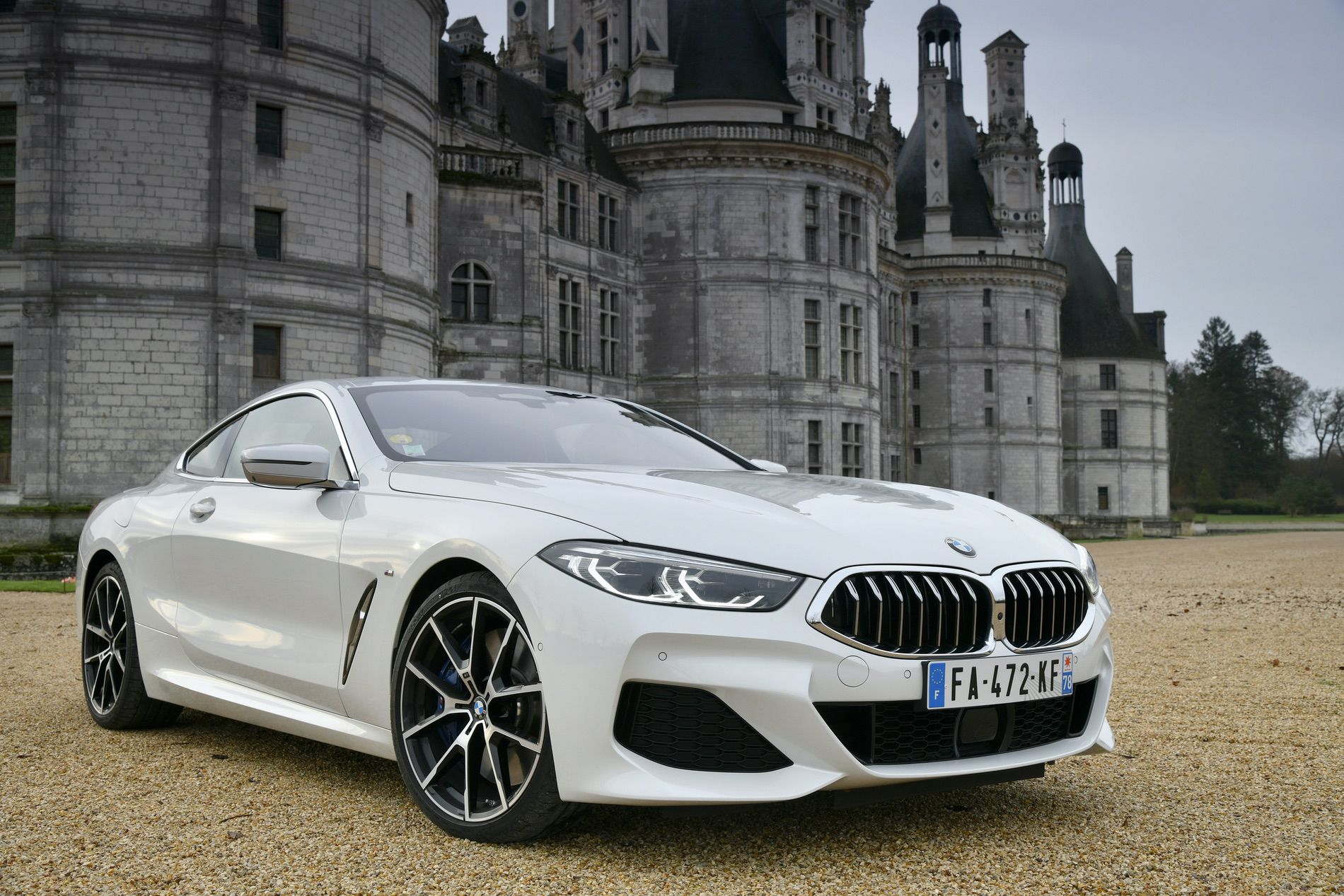 BMW 840d xDrive Mineral White 19