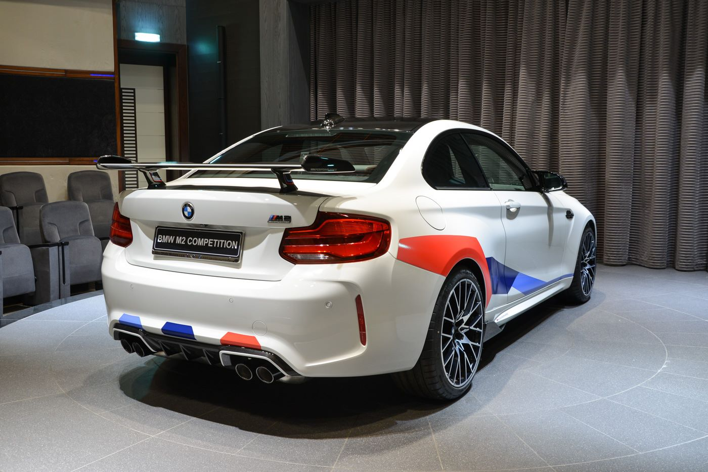 bmw m2 competition gets decked out with m performance parts. Black Bedroom Furniture Sets. Home Design Ideas
