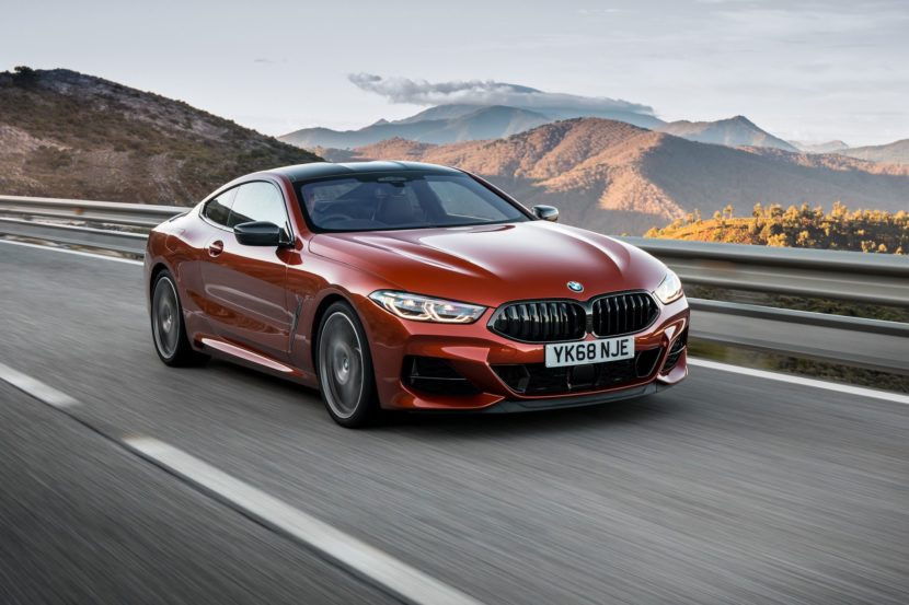 BMW 850i three quarter view