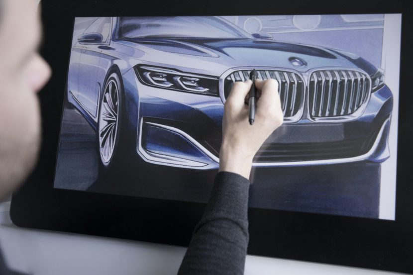 BMW 7 Series Facelift sketches 06 830x553
