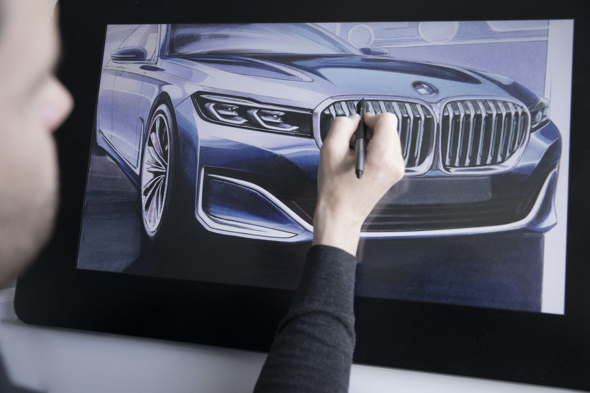 BMW 7 Series Facelift sketches 06