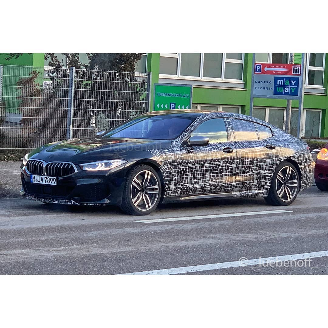 BMW 8 Series Gran Coupe spied 2