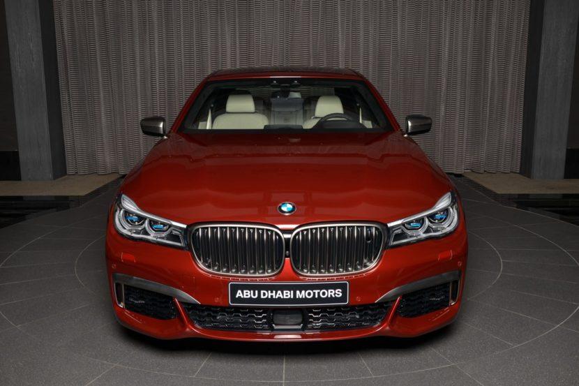 BMW M760Li Individual Rubinrot Ruby Red Abu Dhabi 02 830x553