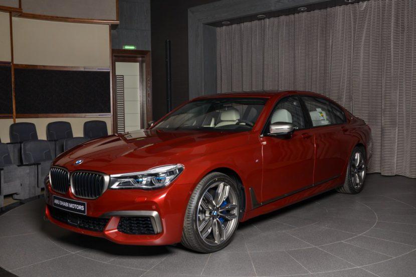BMW M760Li Individual Rubinrot Ruby Red Abu Dhabi 03 830x553