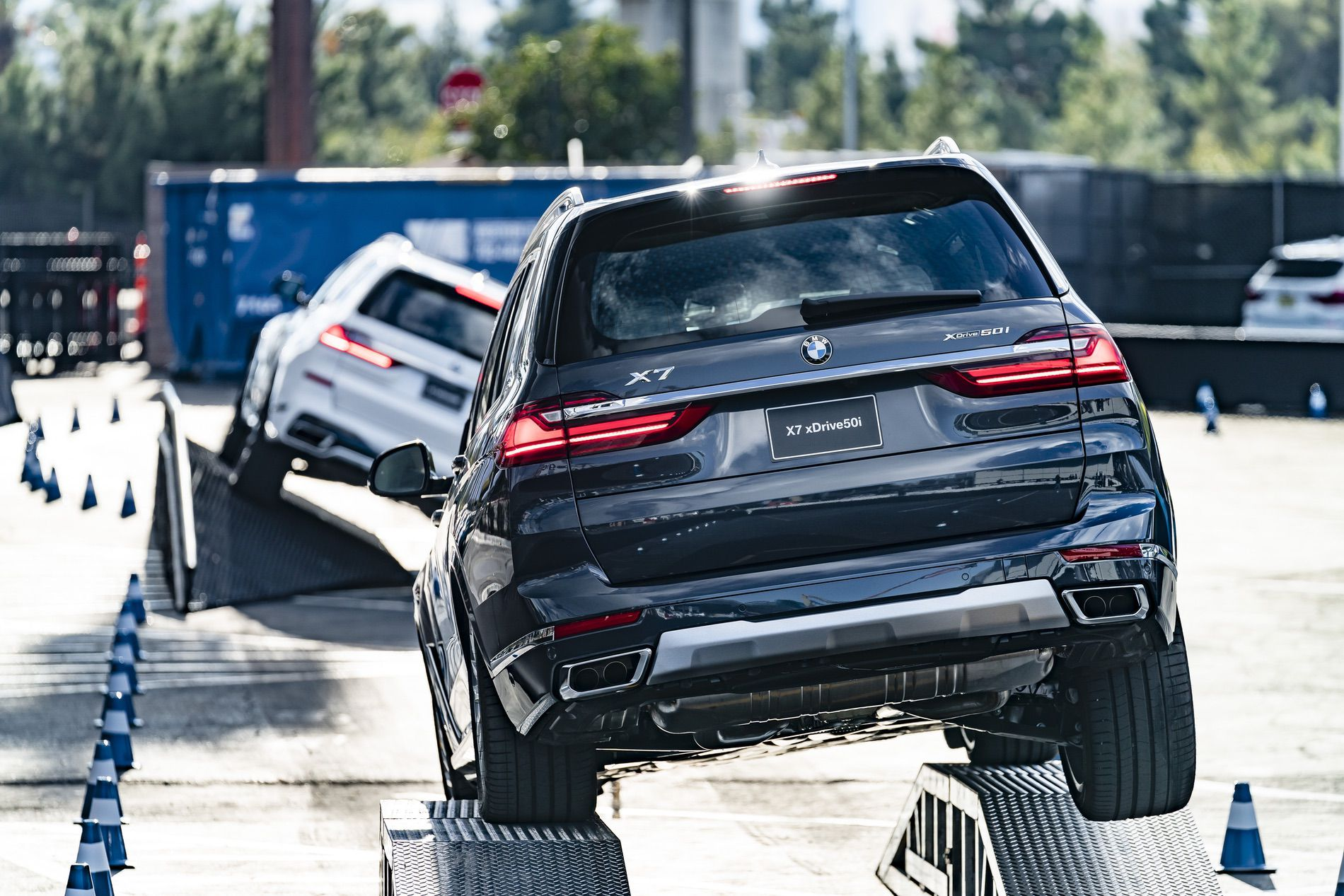 Bmw X7 Doing Some Offroad Tricks At 2019 Ces