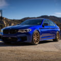 Estoril Blue BMW M5 with HRE RC104 Wheels in Satin Gold 1 120x120