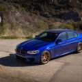 Estoril Blue BMW M5 with HRE RC104 Wheels in Satin Gold