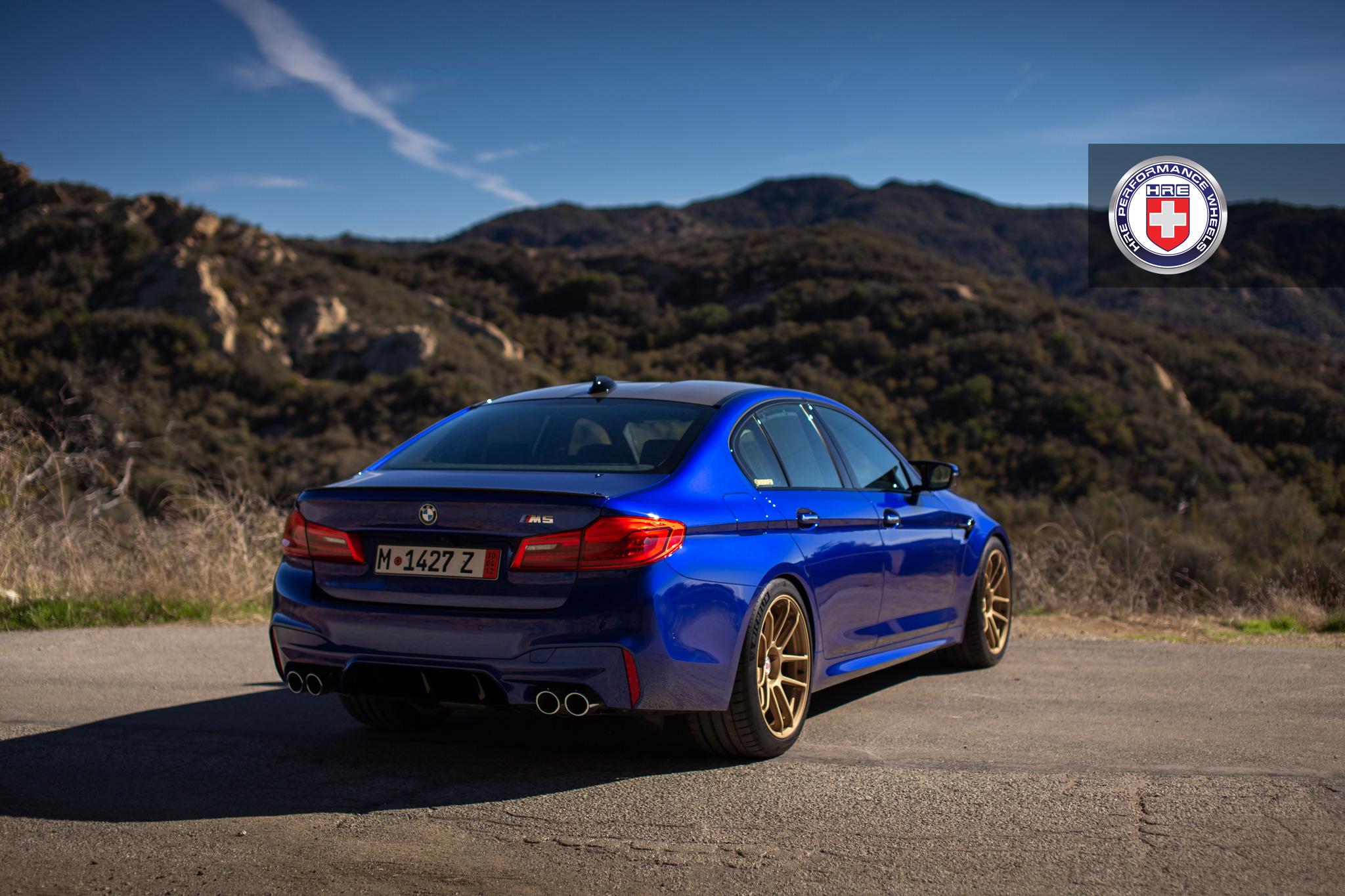 BMW Build Sheet >> San Marino Blue BMW M5 with HRE RC104 Wheels in Satin Gold