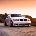 alpine white bmw 135i modified bagged air suspension carbon fiber copper ccw classic wheels i 120x120