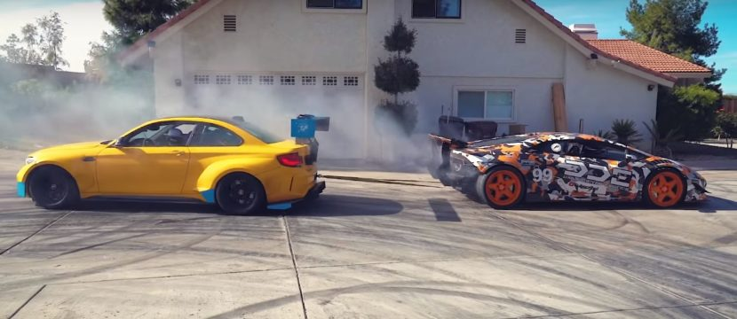 lamborghini huracan vs bmw m2 tug of war is real even gets repeated 2 830x360