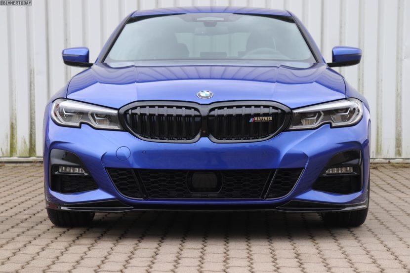 2019 BMW 3er G20 M Performance Tuning Portimao Blau 330i 03 830x553