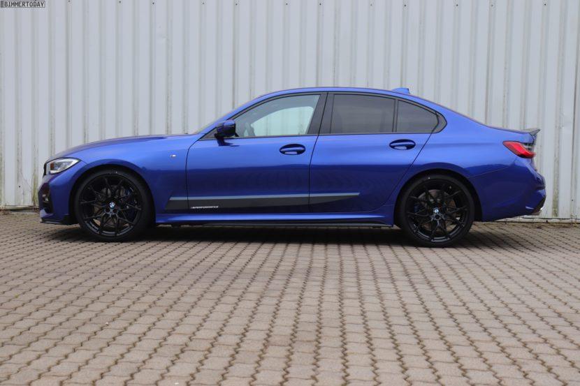 2019 BMW 3er G20 M Performance Tuning Portimao Blau 330i 04 830x553