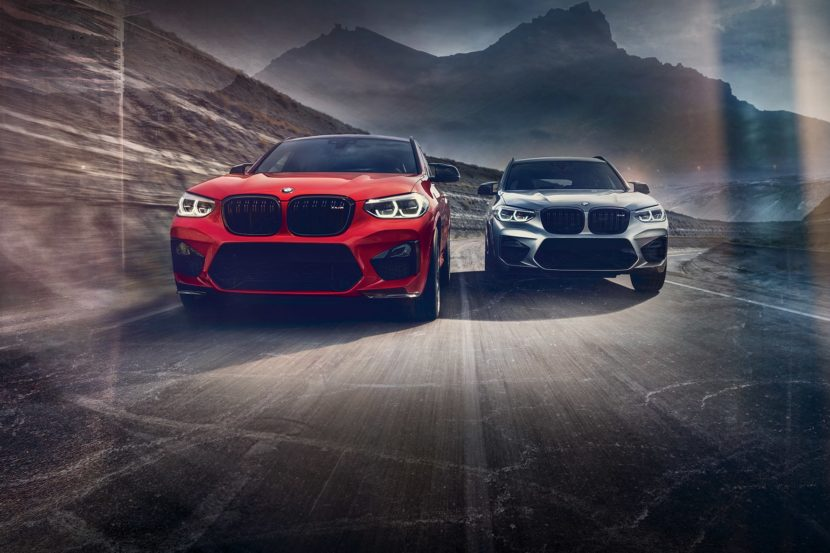 2020 BMW X4 M and X3 M driving on the road 2000 830x553