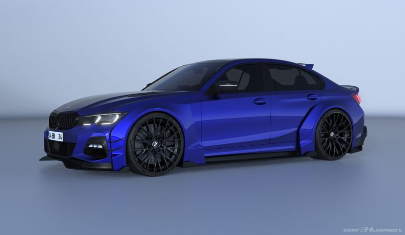 2020 bmw 3 series rendered with race car concept kit 1 830x482