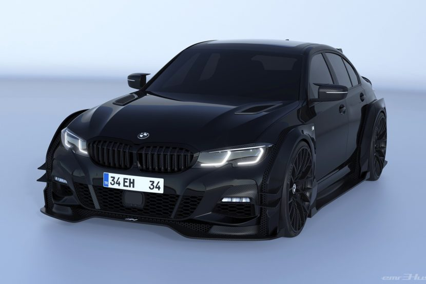 2020 bmw 3 series rendered with race car concept kit 5 830x553