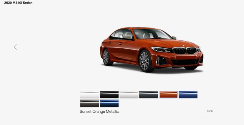2020 BMW M340i configurator 1 830x427