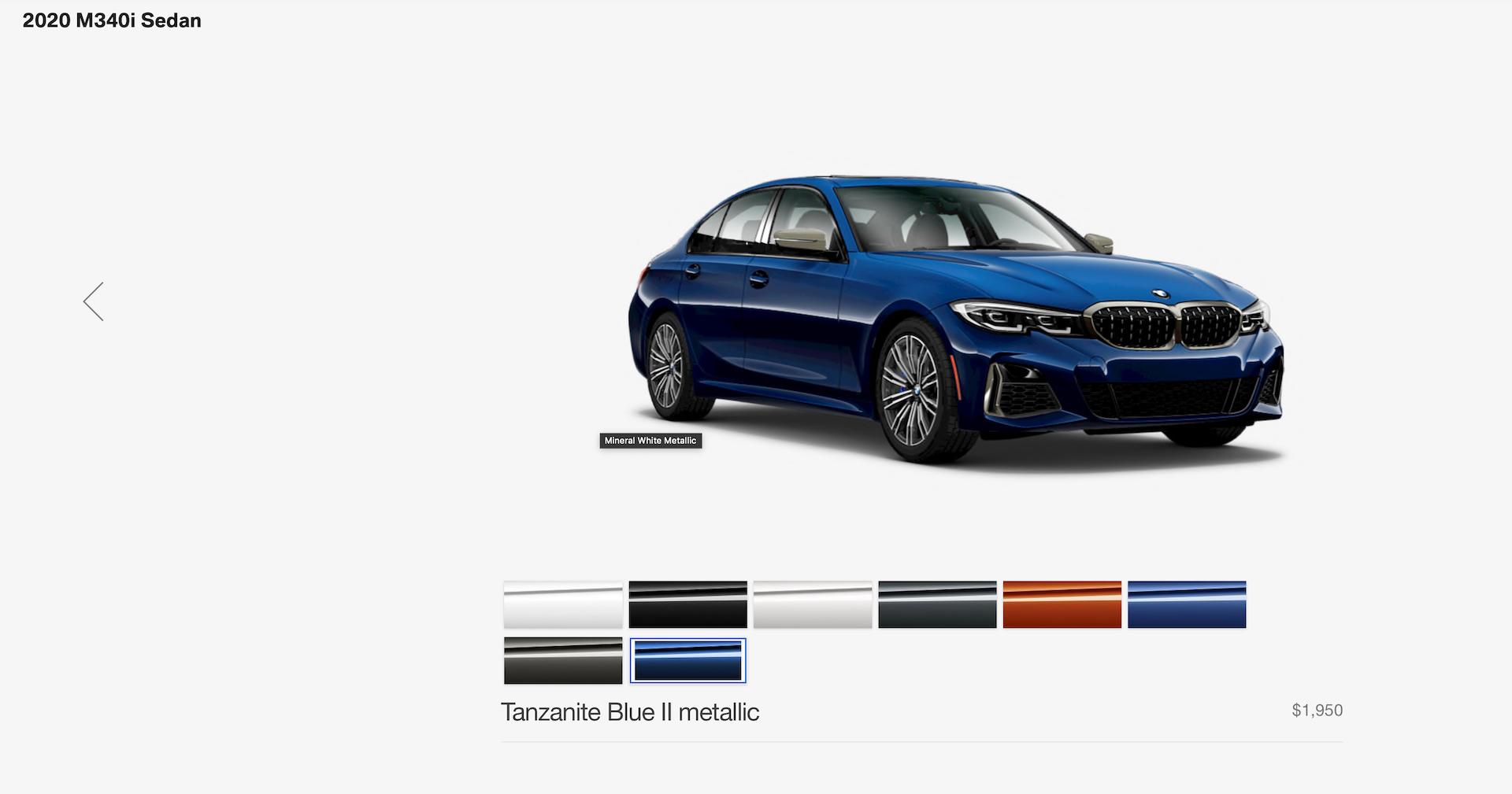 2020 BMW M340i configurator 2