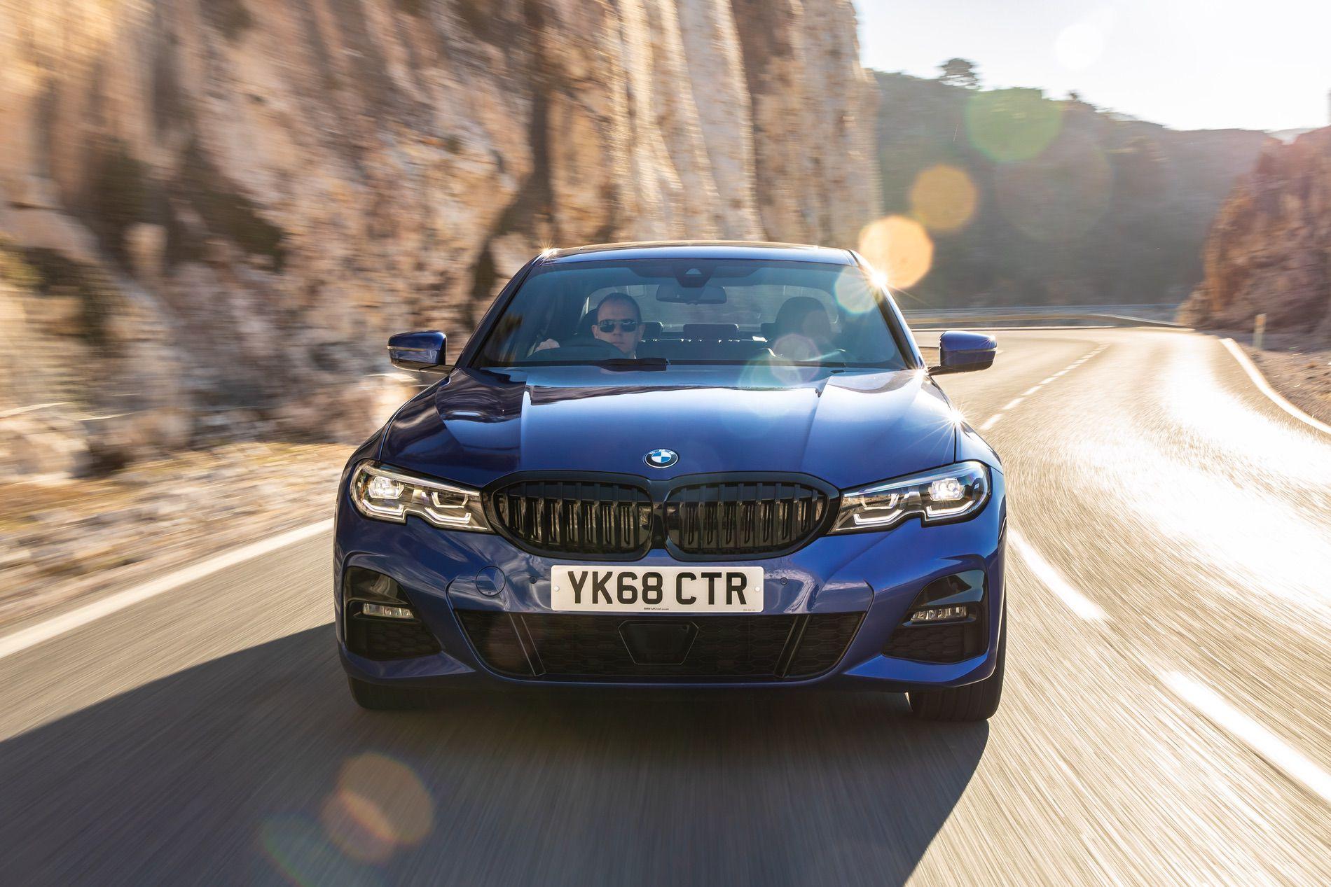 2019 bmw 320d shown in portimao blue during a photoshoot. Black Bedroom Furniture Sets. Home Design Ideas