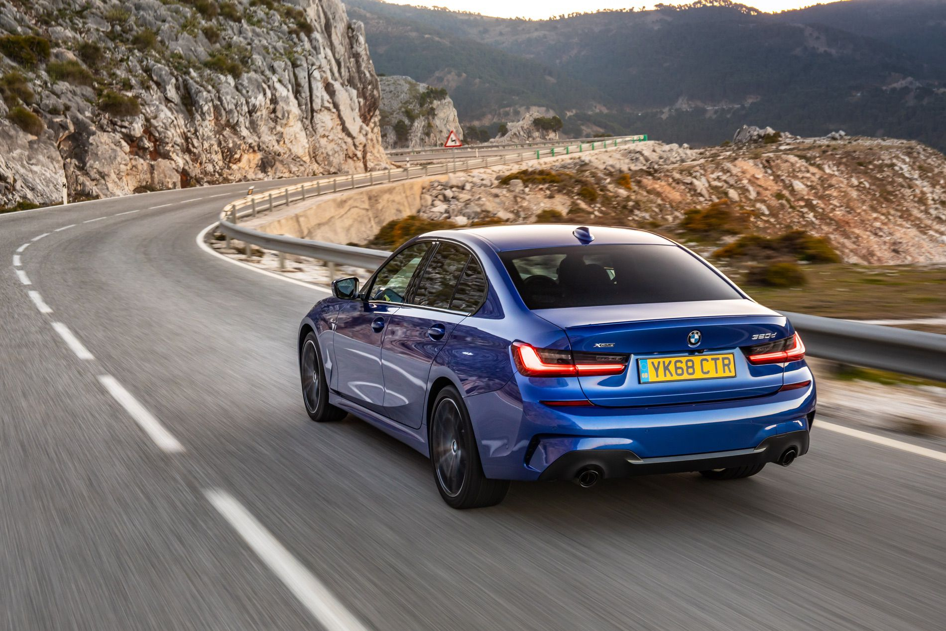 2019 Bmw 320d Shown In Portimao Blue During A Photoshoot
