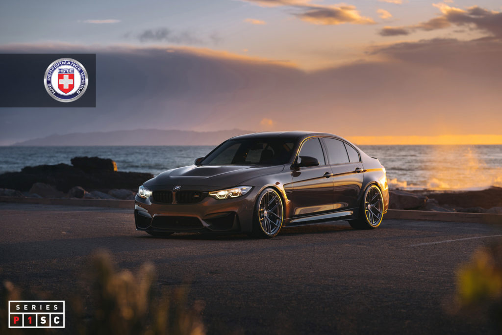 This BMW M3 gets the new Series P1SC line of performance wheels from HRE Wheels