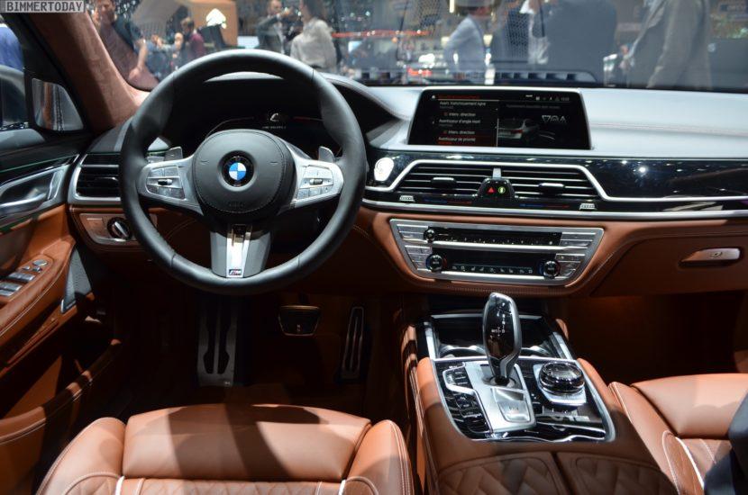 Genf 2019 BMW M760Li G12 Facelift LCI Individual Frozen Cashmere Interieur Live 03 830x550
