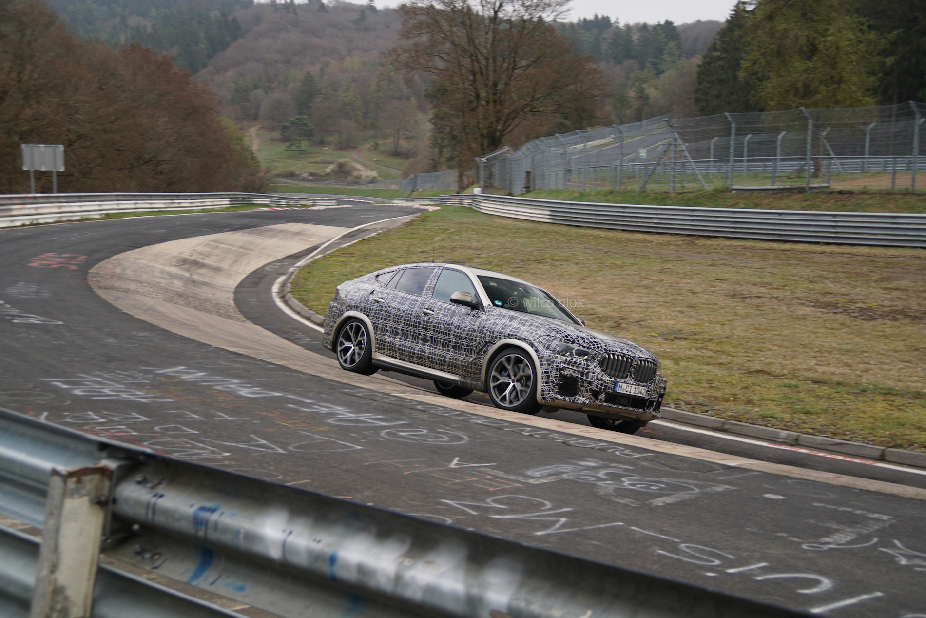 Testing at Nurburgring: The 2020 BMW X6 Sports Activity Coupe