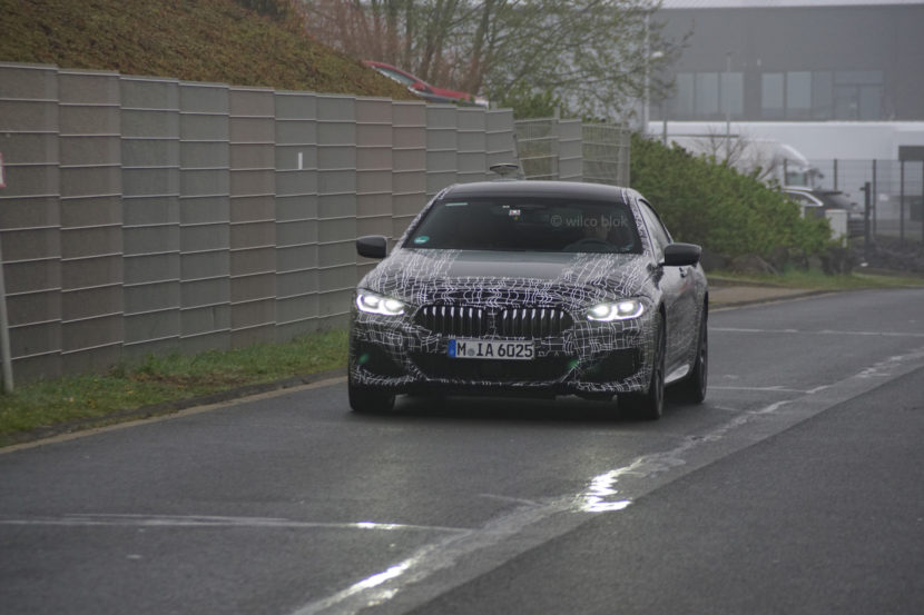 BMW M850i Gran Coupe spy photos 1 830x553