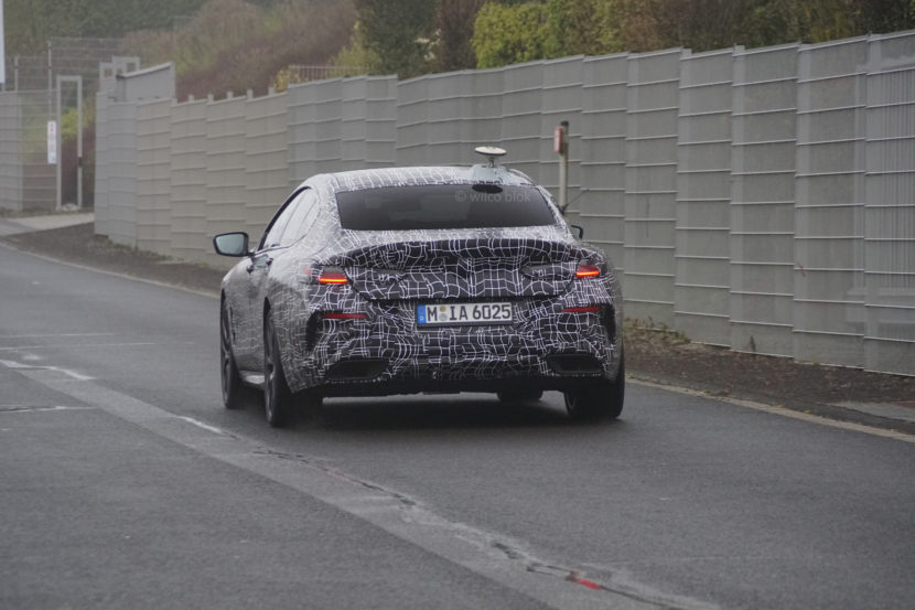 BMW M850i Gran Coupe spy photos 2 830x553