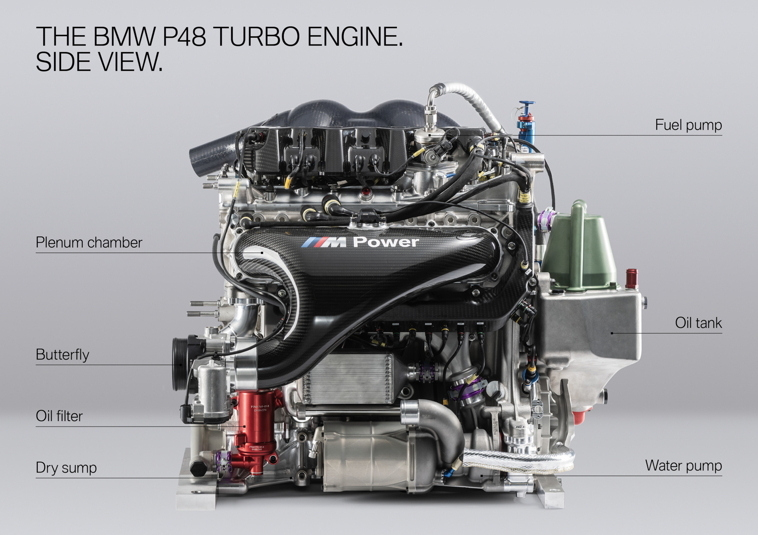New BMW DTM Engine shows off its Turbo Power Roots