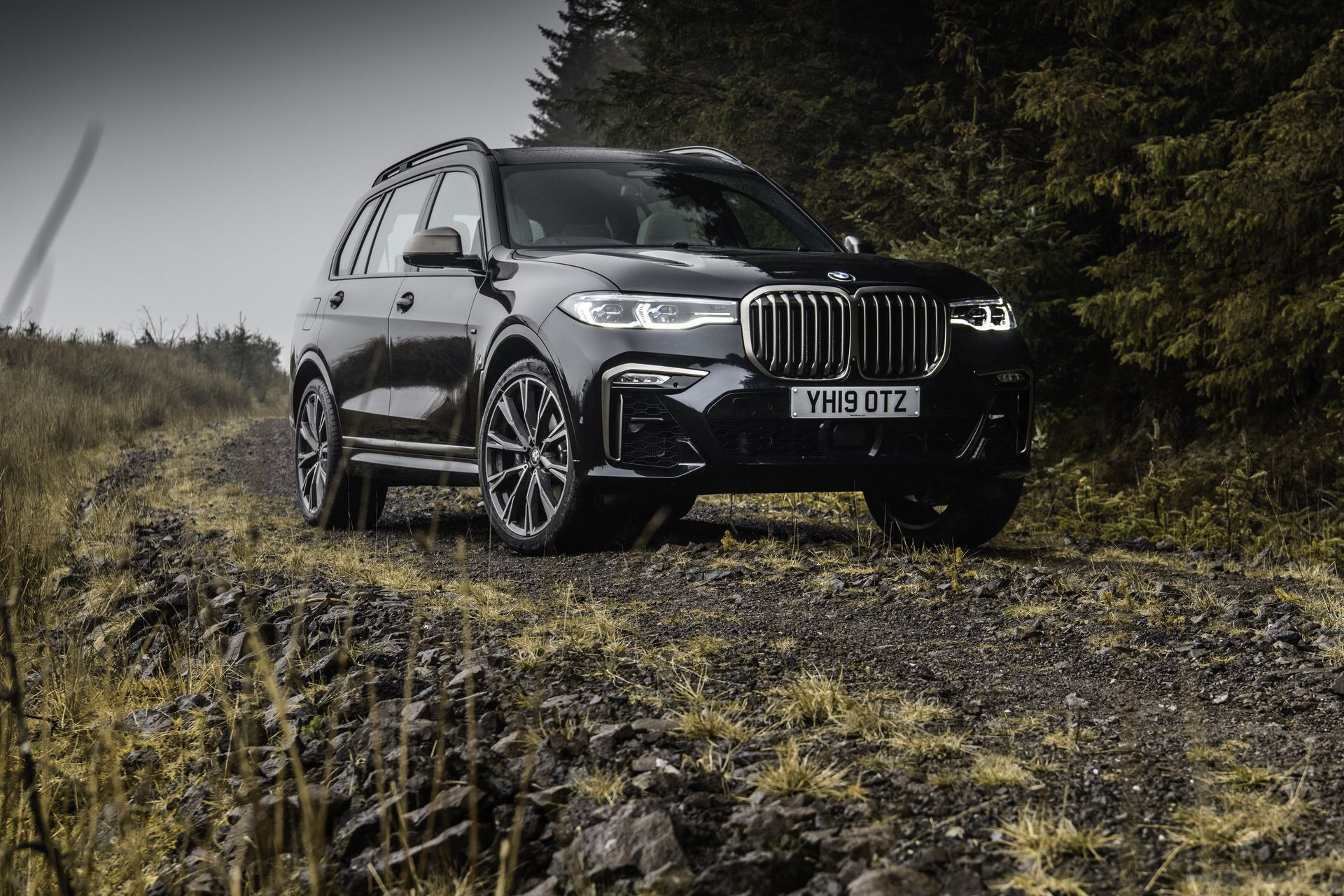 BMW X7 m50d black color 21