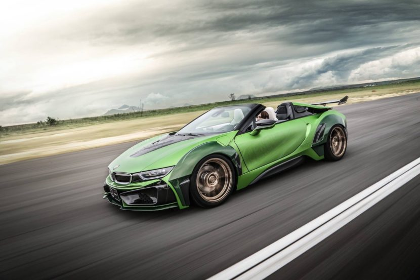BMW i8 Roadster Energy Motors Sport green color 10 830x553