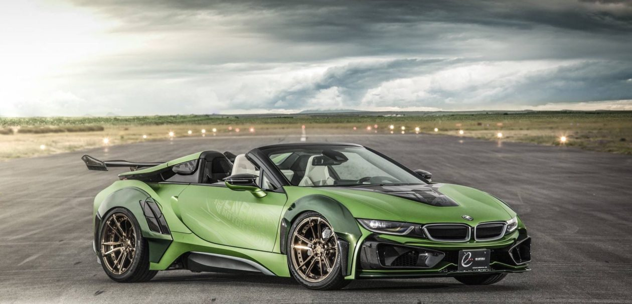 BMW i8 Roadster Energy Motors Sport green color 12 1260x608