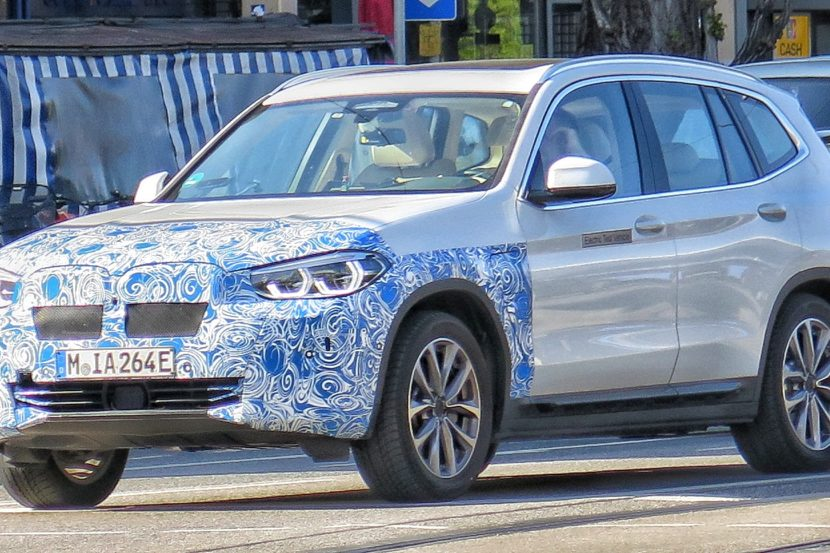 Bmw S First Ever Fully Electric Suv Was Just Spotted In Munich During Typical Testing Sessions The Ev Based On X3 Will Arrive