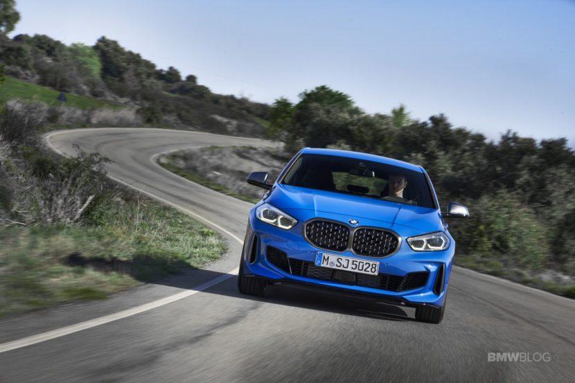 2020 BMW M135i xDrive Misano Blue 10 830x553