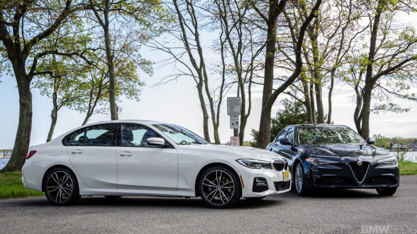 BMW 330i xDrive vs Alfa Romeo Giulia Q4 2 of 37 830x467
