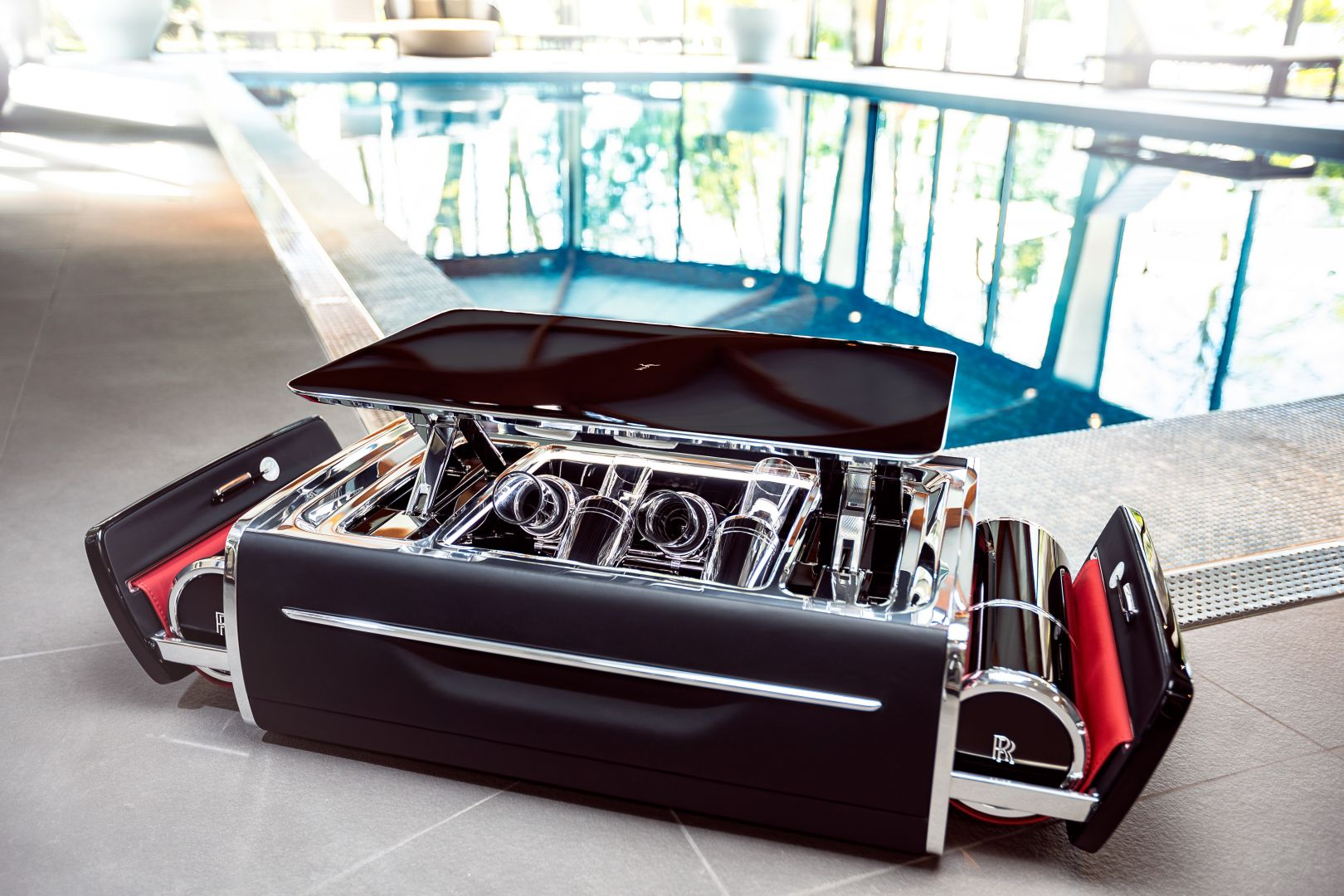 Rolls-Royce Creates the World's Best Champagne Chest