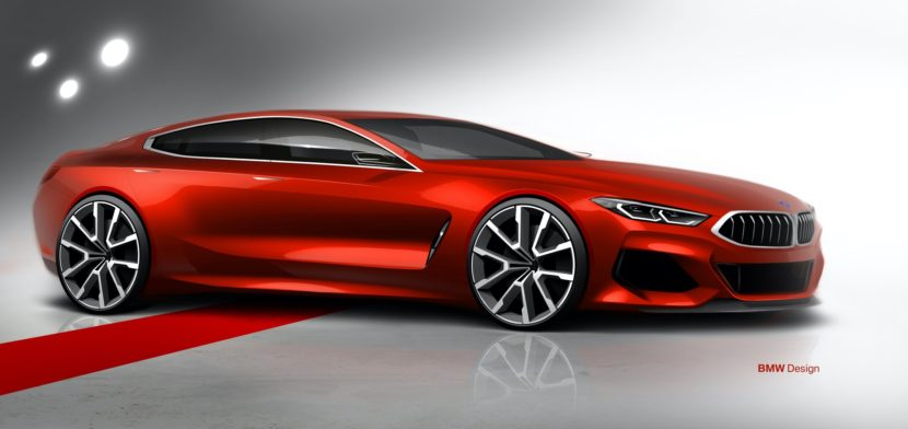 BMW M850i Gran Coupe sketches design 07 830x392