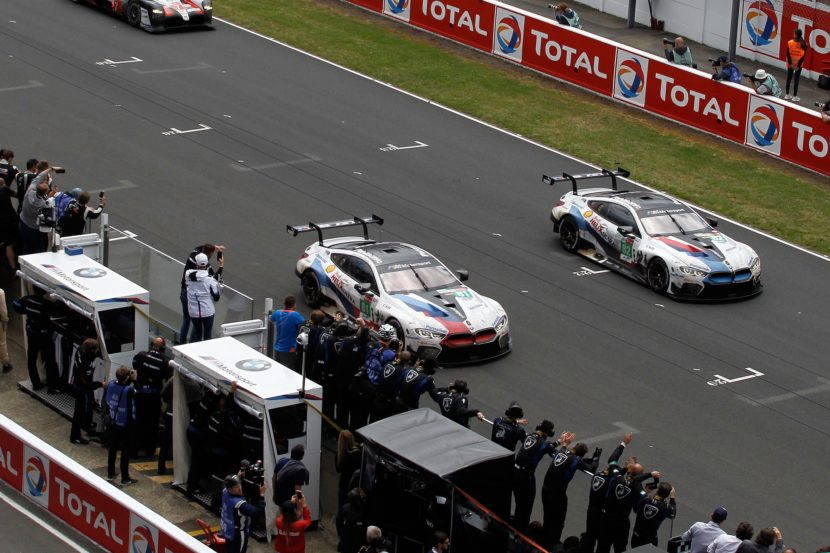 BMW M8 GTEs finished 11th and 14th in the LM GTE Pro class