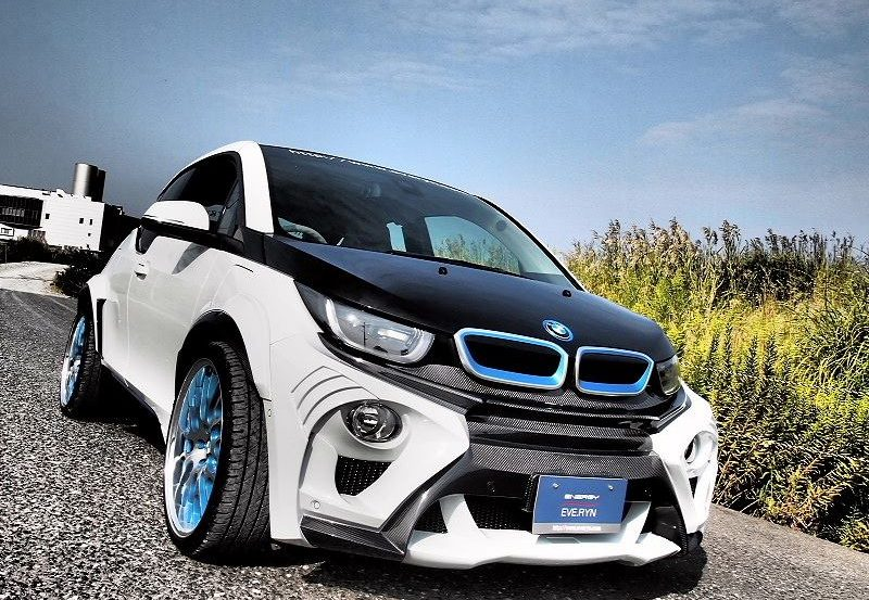 widebody bmw i3 evo tuning from japan looks like a fish 135217 1 800x553