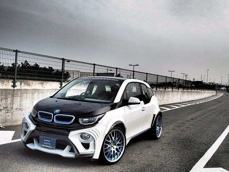widebody bmw i3 evo tuning from japan looks like a fish 11