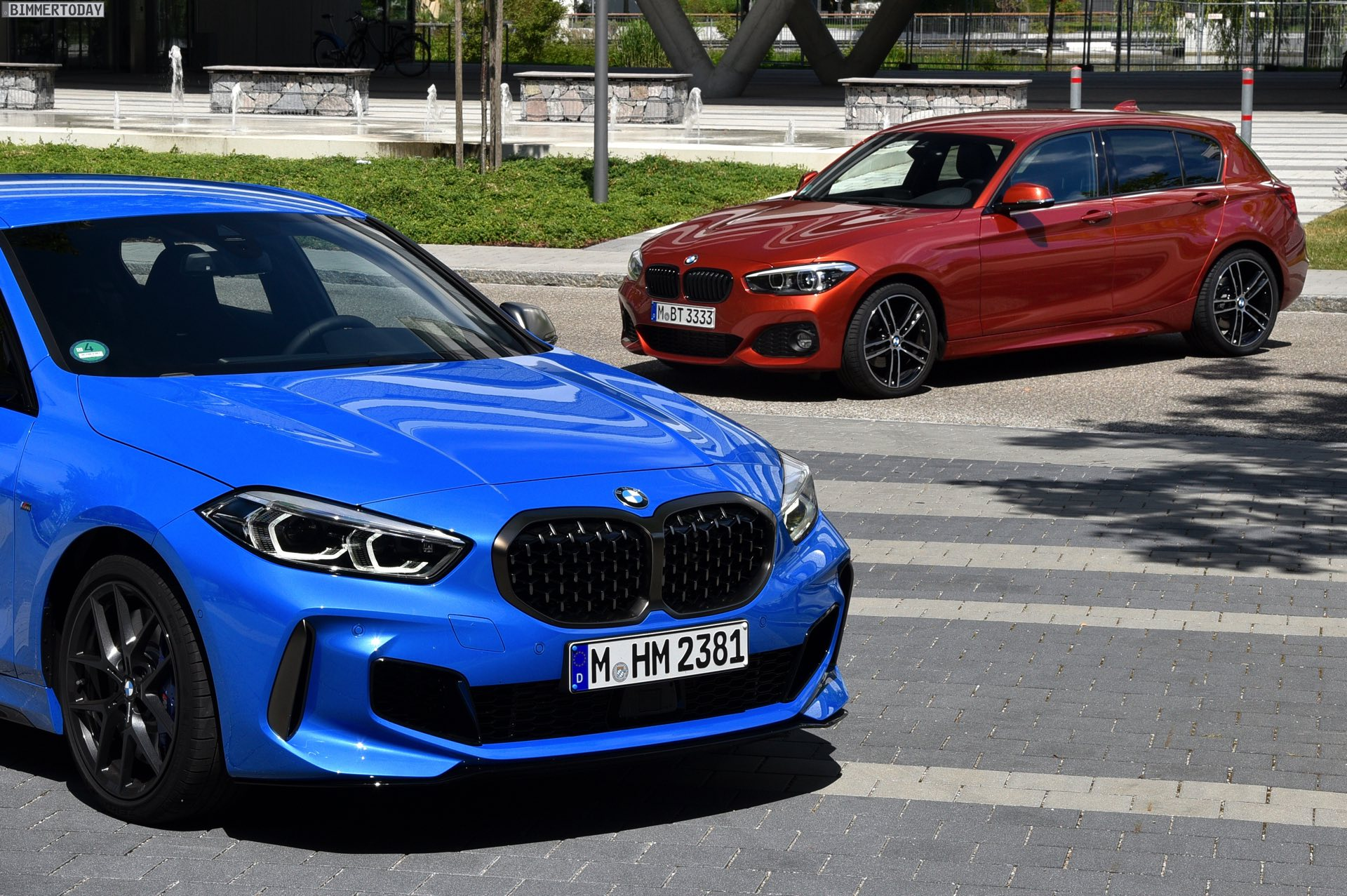 Side By Side New Bmw 1 Series Meets F20 1 Series M Sport