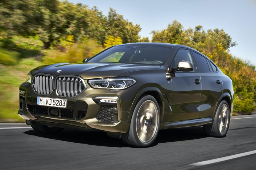 2020 BMW X6 action shots 13 830x553