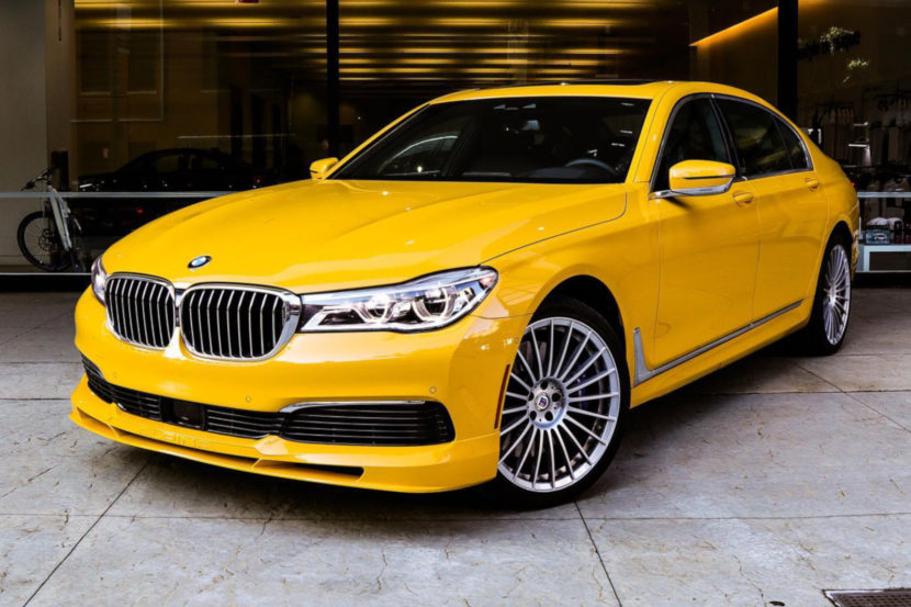 BMW Alpina B7 Individual Speed Yellow New York 03 830x553