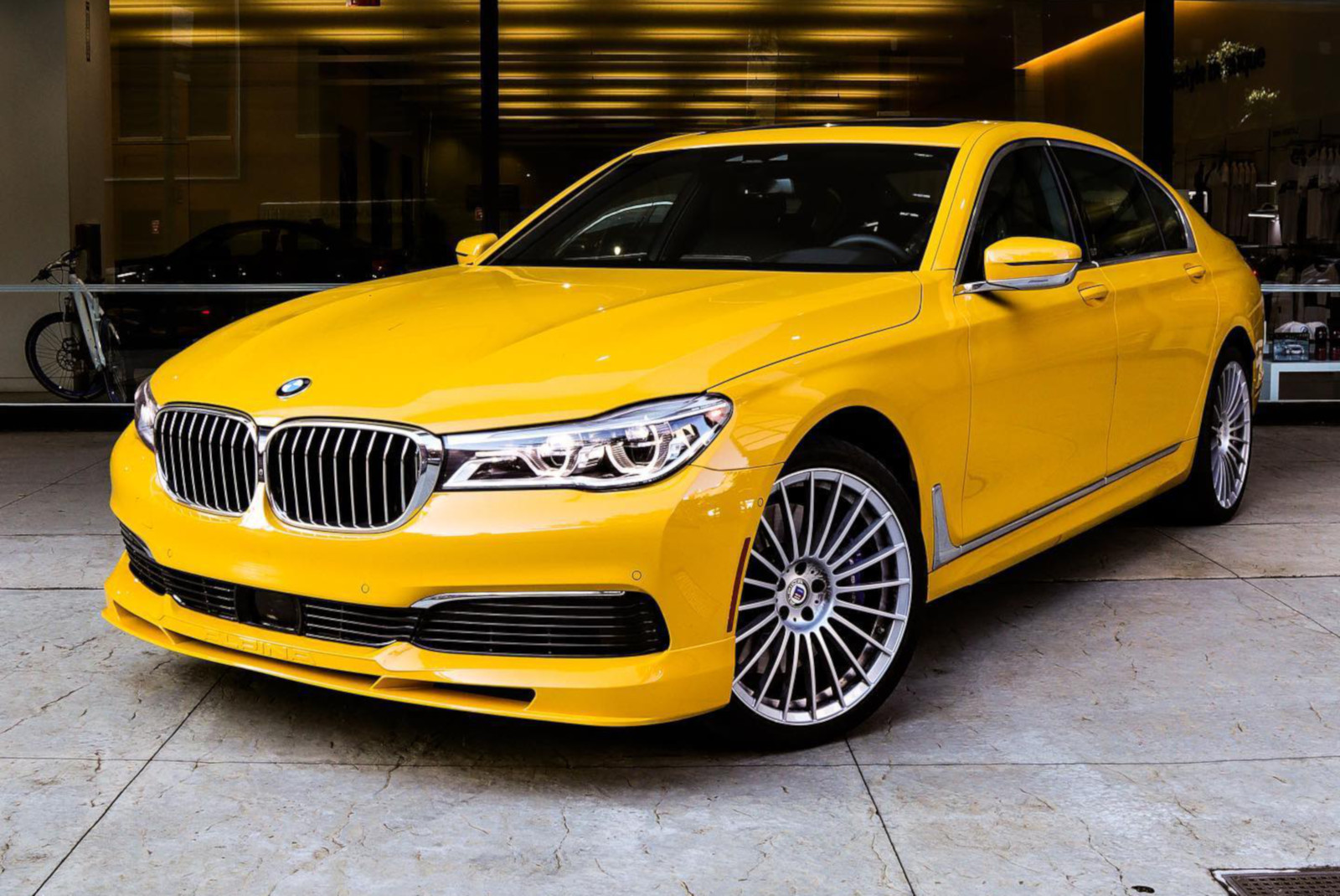 BMW Alpina B7 Individual Speed Yellow New York 03