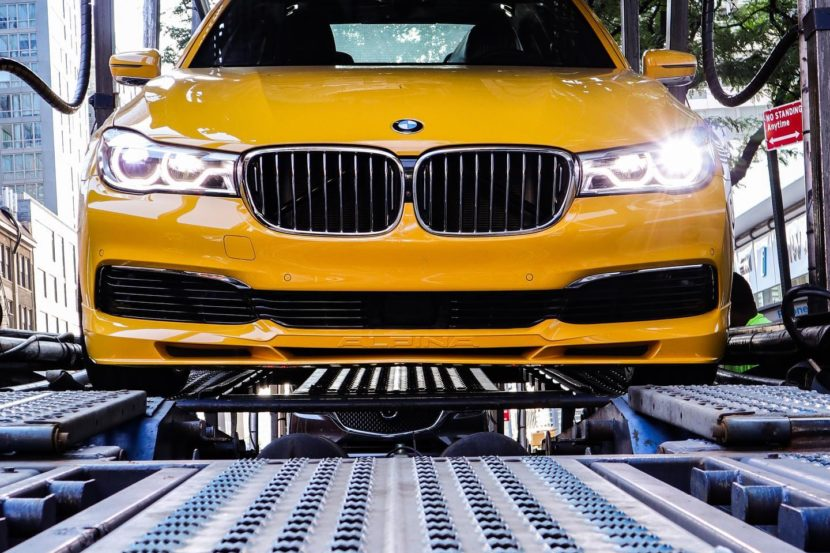 BMW Alpina B7 Individual Speed Yellow New York 12 830x553