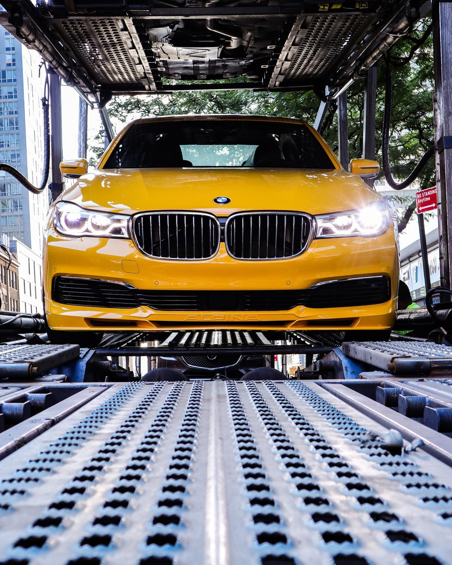 BMW Alpina B7 Individual Speed Yellow New York 12